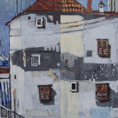 A014 - Nad przystanią - pastel - 72 x 56 | At A Harbour