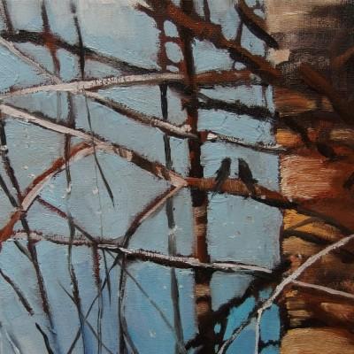 B010 - Przymrozek - olej - 40 x 20 | Slight Frost
