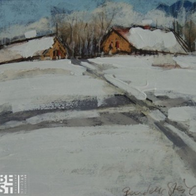 B018 - Po drodze - pastel - 30 x 30 | Along the Way