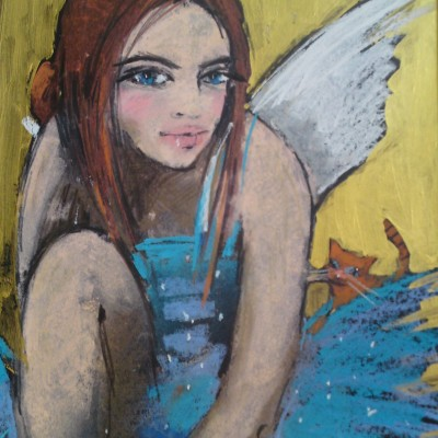 C005 - Aniołek - pastel - 30 x 40 | Little Angel