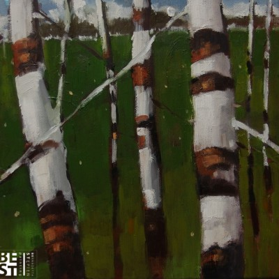 B027 - Z tęsknoty za wiosną - olej - 30 x 30 | Longing for spring